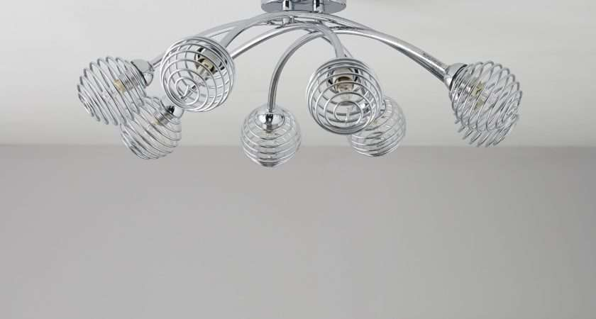 Karli Chrome Effect Lamp Ceiling Light Departments