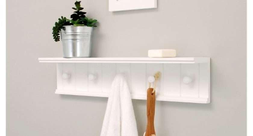 Kian Wall Shelf Pegs White Target