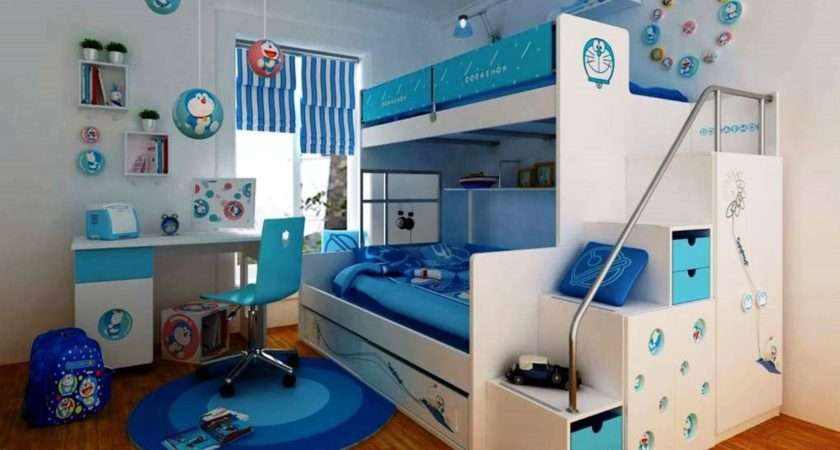 Kids Bedroom Bunk Bed Storage Solution Simple Room
