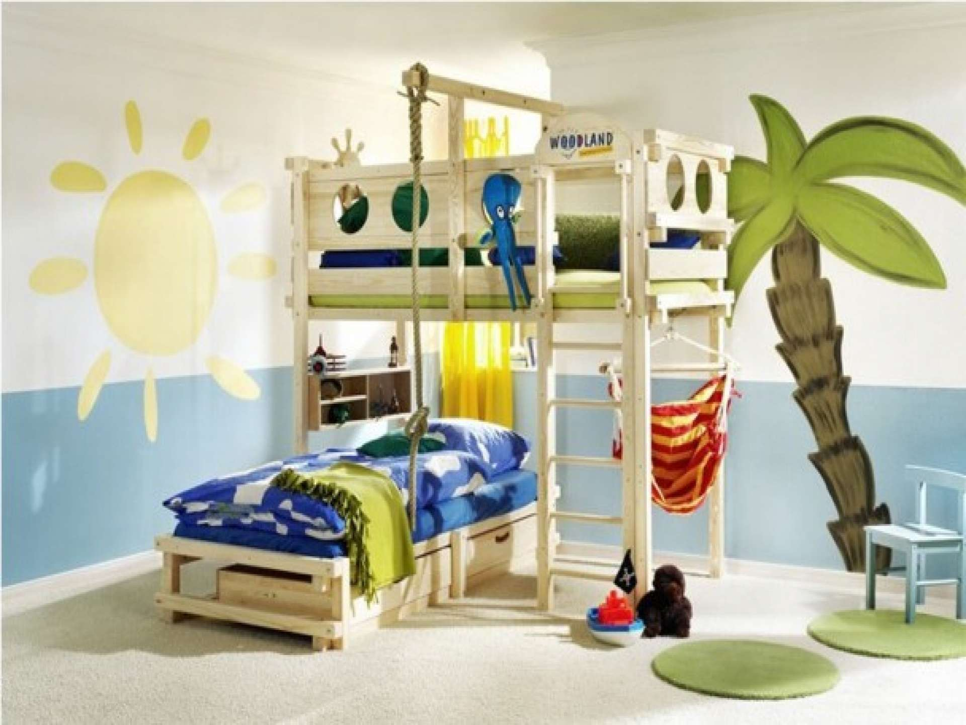Kids Bedroom Ideas Fancy Wood Bed Level