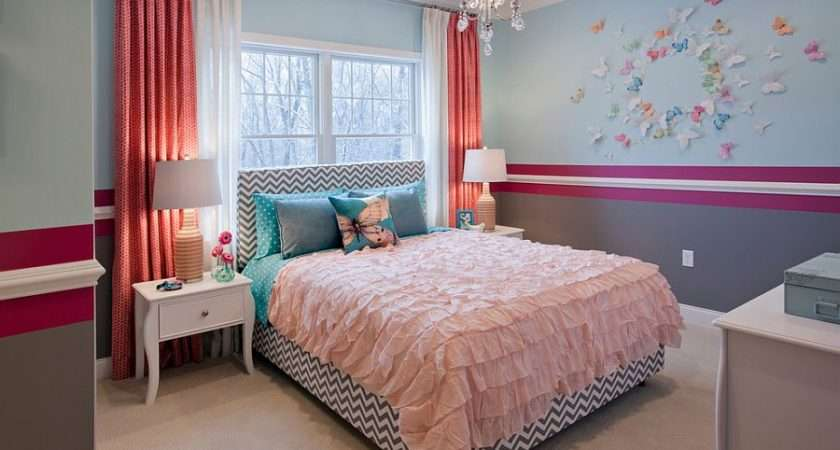 Kids Bedrooms Showcasing Stylish Chevron Pattern