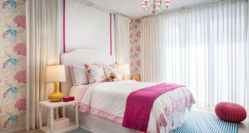 Kids Bedrooms White Nightstand Guest Girls