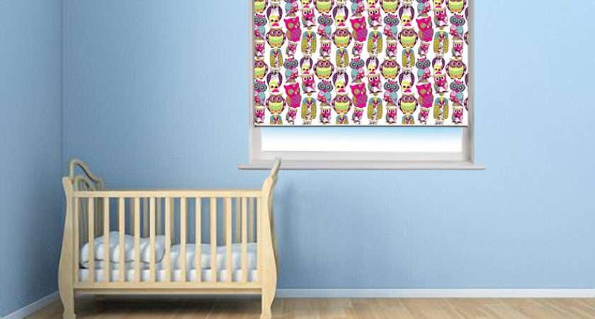 Kids Cartoon Owl Printed Window Blind Roller Blinds Rooms