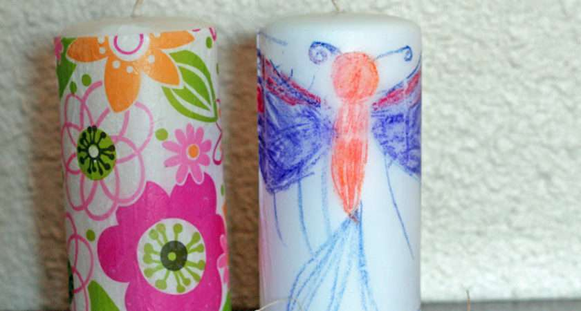Kids Craft Personalized Candles Honeybear Lane