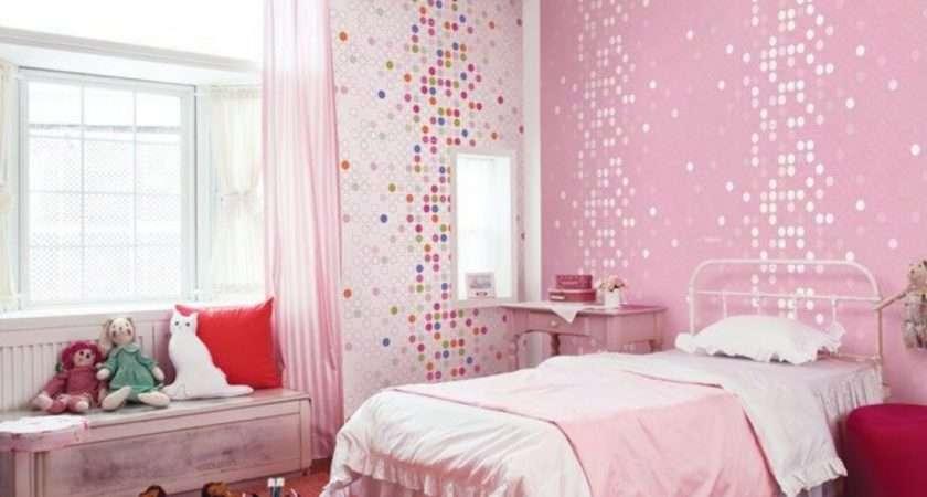 Kids Room Cute Pink Dotty Girls Bedroom Home Design