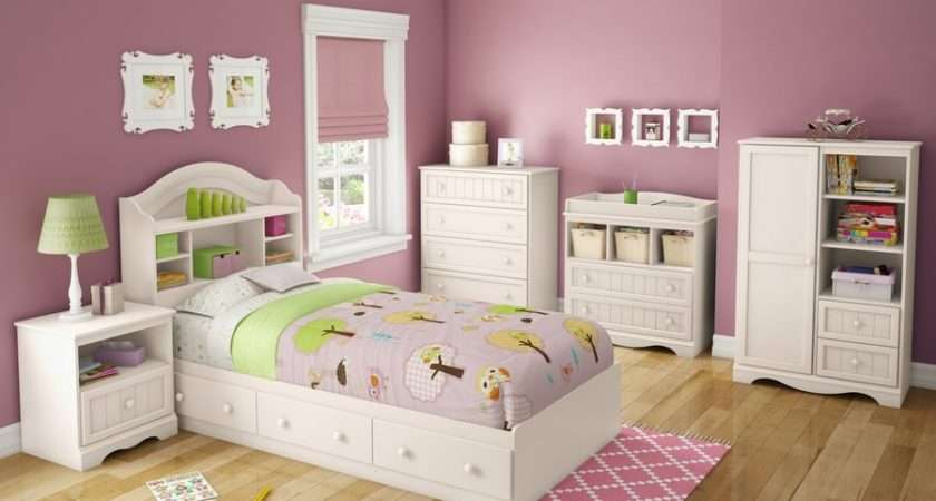 Kids Room Pink White Color Combination Girls