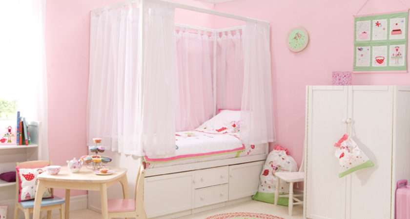 Kids White Four Poster Bed Cbc