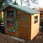 Kids Wooden Playhouse Double Storey