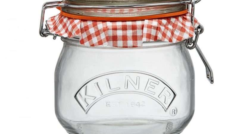 Kilner Preserve Cliptop Round Jar Litre Robert Dyas
