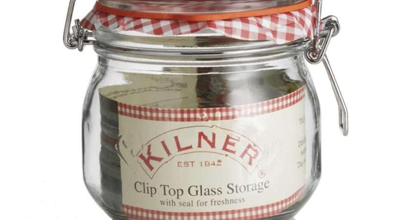 Kilner Round Clip Top Jar Litre Leekes