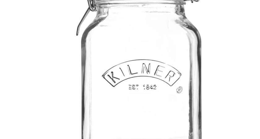 Kilner Square Clip Top Glass Jar Litre