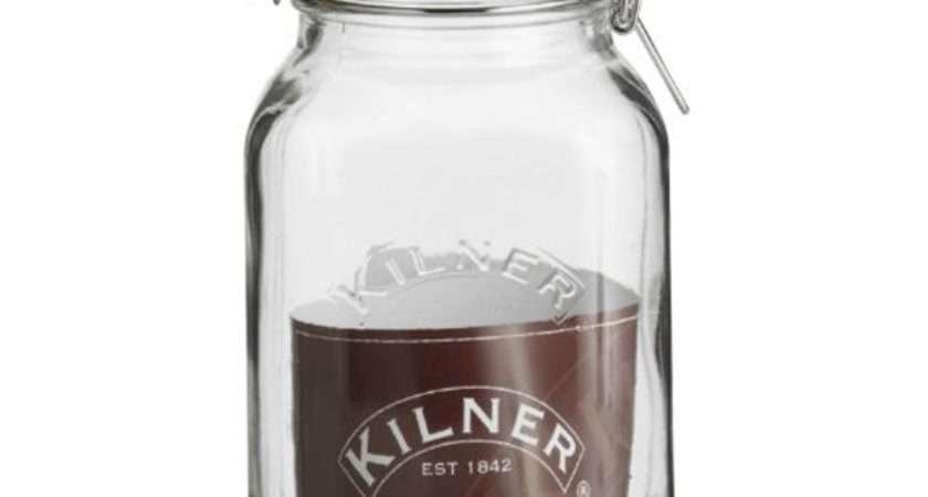 Kilner Square Clip Top Jar Litre