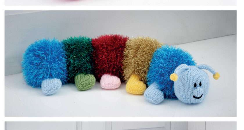 King Cole Tinsel Chunky Knitting Pattern Caterpillar Toy