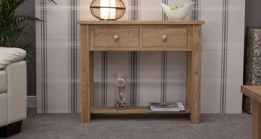 Kingston Solid Oak Hallway Furniture Small Console Hall Table Ebay