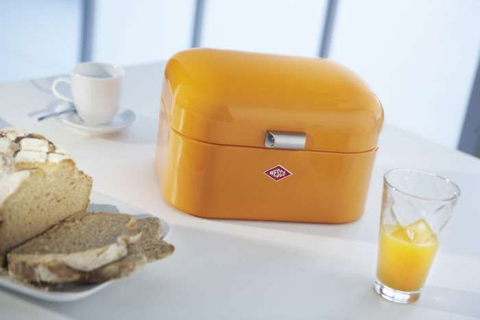 Kitchen Accessories Wesco Single Grandy Bread Bin Lemon Yellow