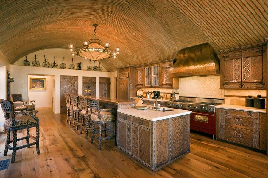 Kitchen Barrel Vaulted Ceiling Hooked Houses