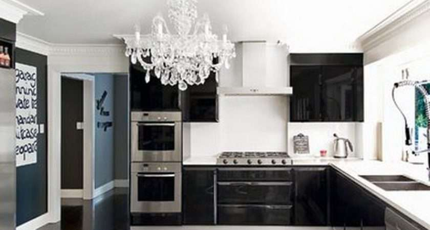 Kitchen Black White Small