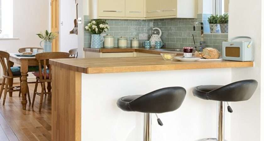 Kitchen Breakfast Bar Wooden Worktops