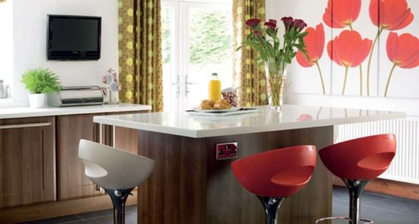 Kitchen Colourful Feature Wall Colour