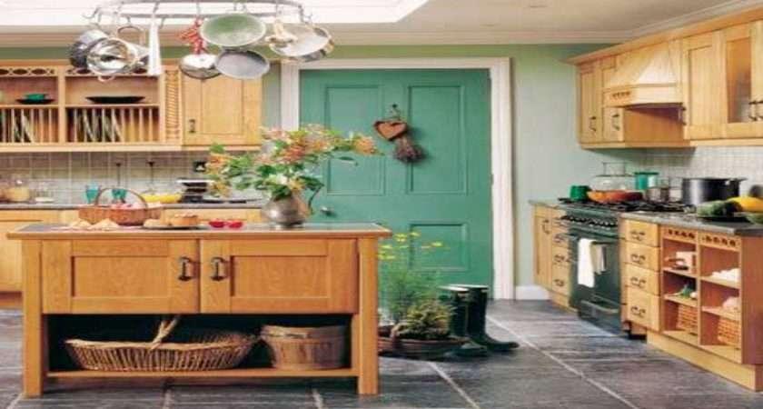 Kitchen Country Cottage Design Wooden Storage Ideas