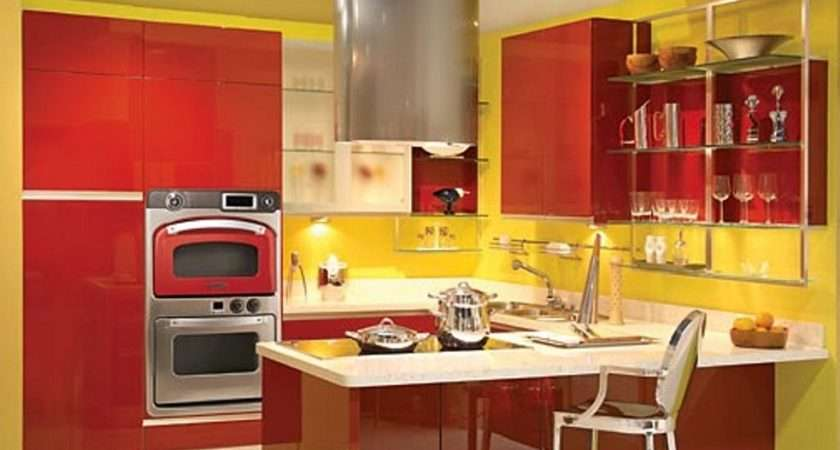 Kitchen Decor Red Turquoise Yellow