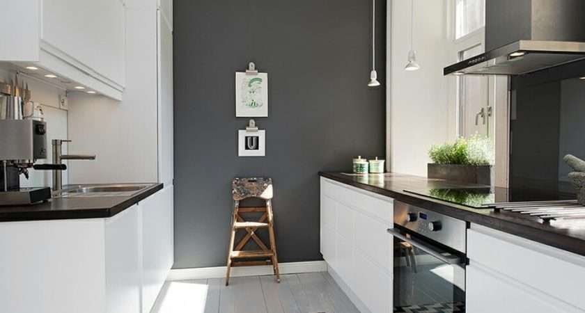 Kitchen Design Pinterest Grey Feature Wall