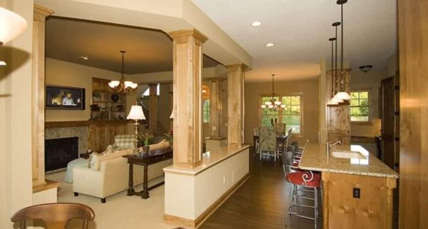 Kitchen Great Room Designs Grasscloth