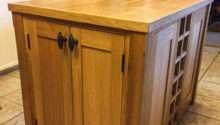 Kitchen Island Unit Made Solid Oak