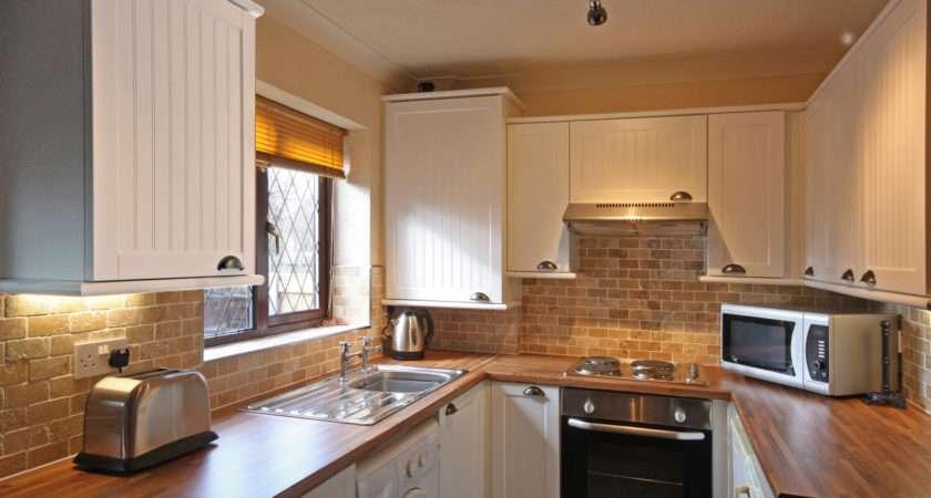 Kitchen Nice Cabinets Model Closed Brick Backsplash Tile