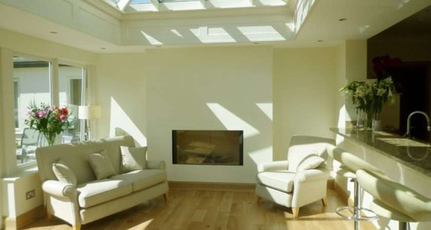 Kitchen Orangery Contemporary Living Room Dublin