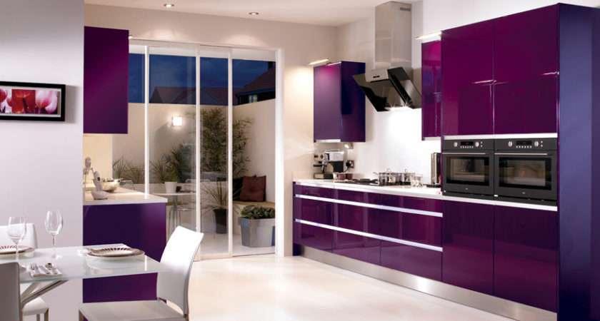Kitchen Purple Color