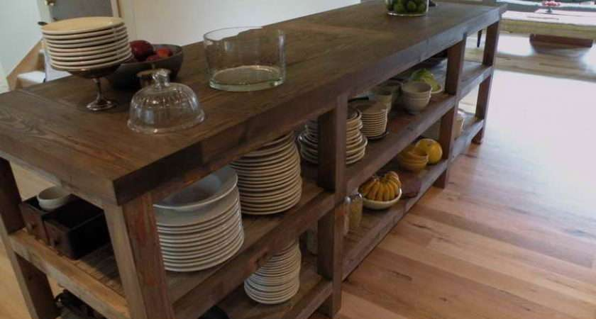 Kitchen Reclaimed Wood Island