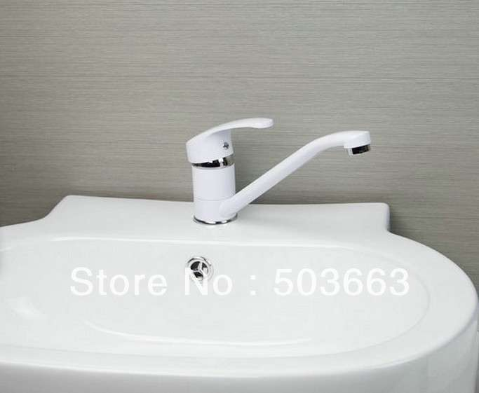 Kitchen Sink Brass Mixer Tap Swivel Faucet Spray Paint