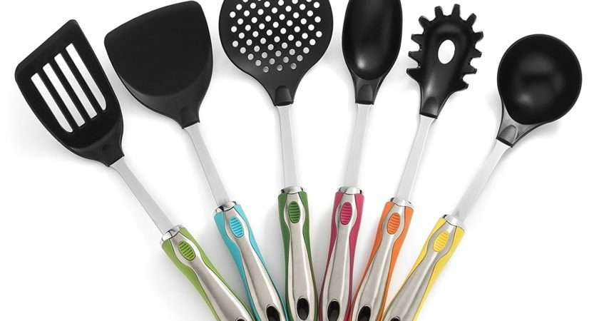 Kitchen Tool Gadget Sets Spatula Spoon Soup Utensil Holder Colorful