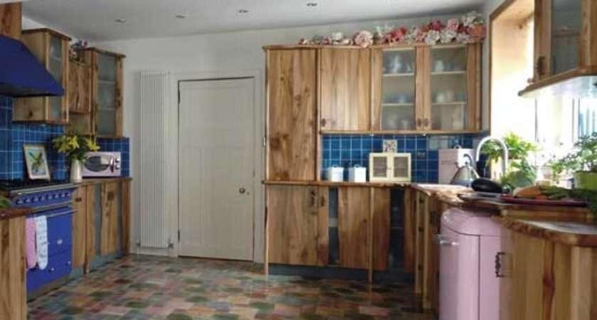 Kitchen Unusual Flooring Design