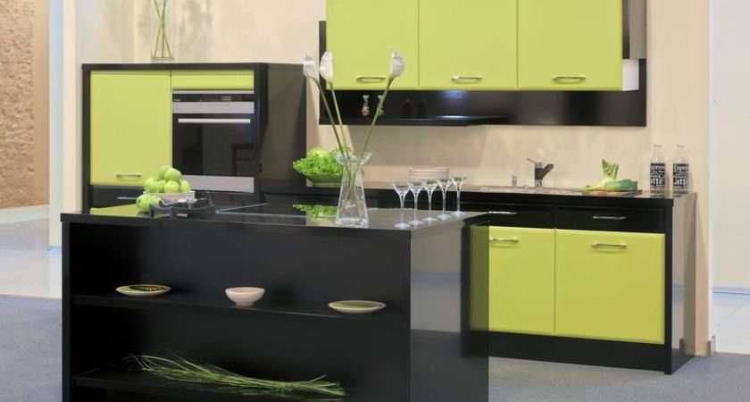 Kitchens Modern Green Kitchen Cabinets