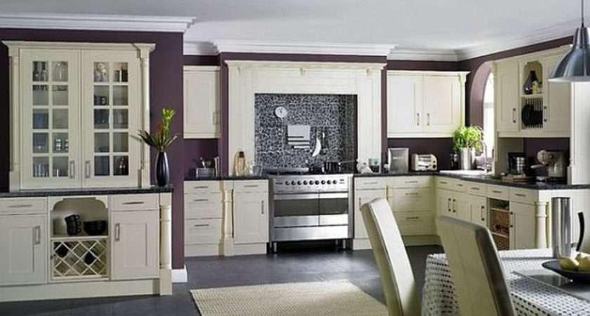 Kitchens Style Contemporary Dark Purple Wall Kitchen