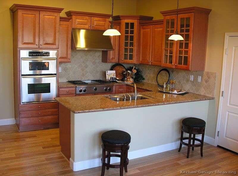 Kitchens Traditional Medium Wood Golden Brown Kitchen