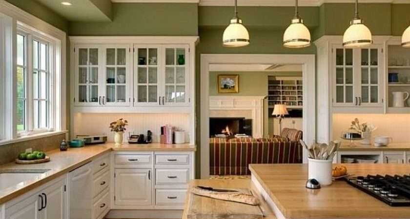 Kitchens White Cabinets Green Walls Review