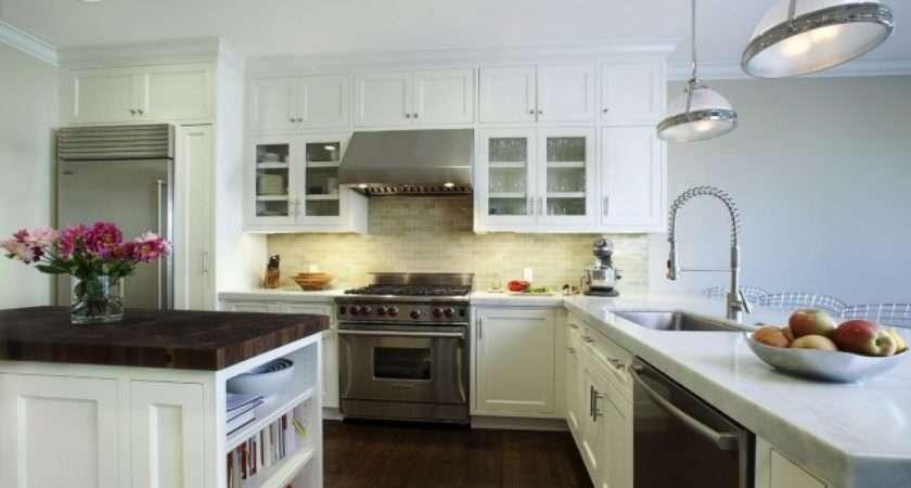 Kitchens White Kitchen Cabinets Subway Tiles Backsplash