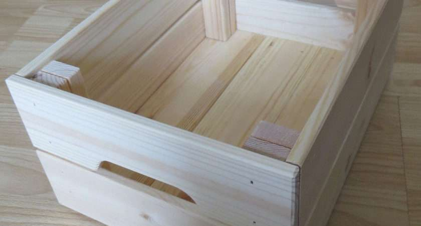 Knagglig Ikea Wooden Storage Boxes Crates