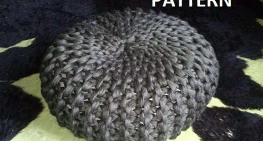 Knitted Pouf Pdf Pattern Poof Knitting Ottoman