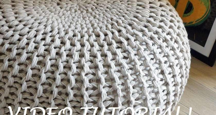 Knitting Pattern Knitted Pouf Poof Ottoman