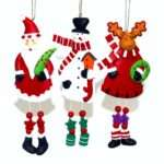 Knobbly Knees Clay Christmas Tree Ornaments Handmade