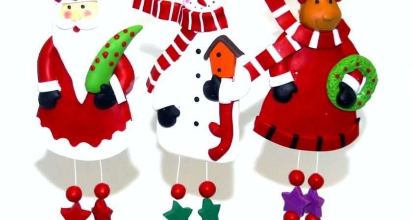 Knobbly Knees Clay Christmas Tree Ornaments Handmade