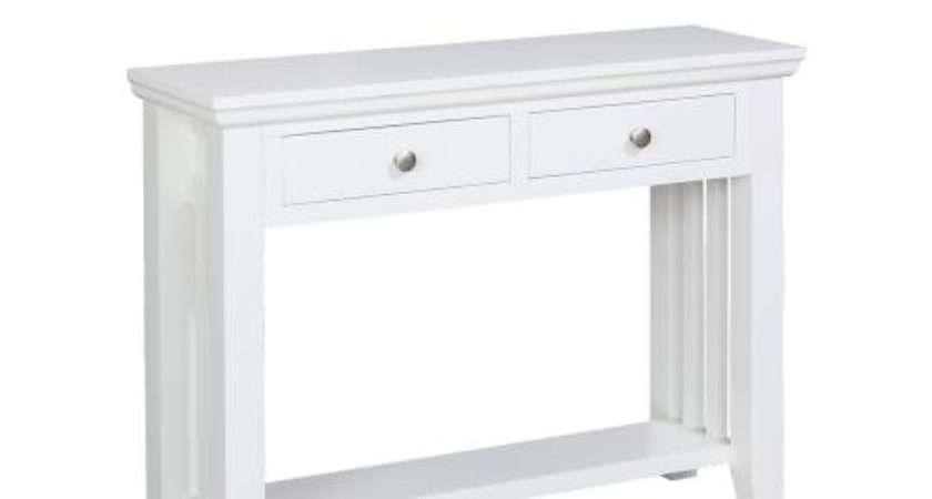 Kristina Painted Furniture White Console