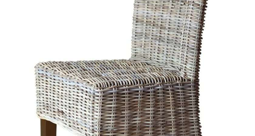 Kubu Grey Rattan Dining Chair Dark Casa Bella Furniture