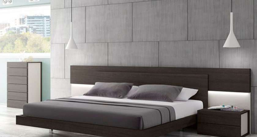 Lacquered Graceful Wood Luxury Platform Bed Indianapolis