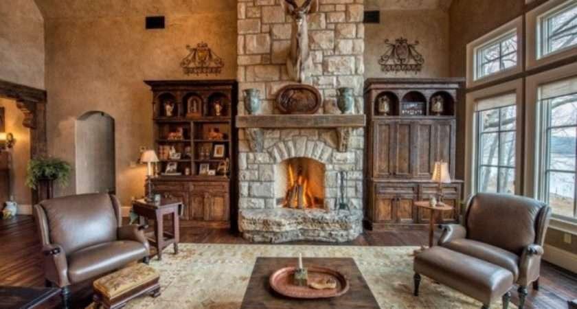 Lake Cottage Style Great Living Room Design Decor