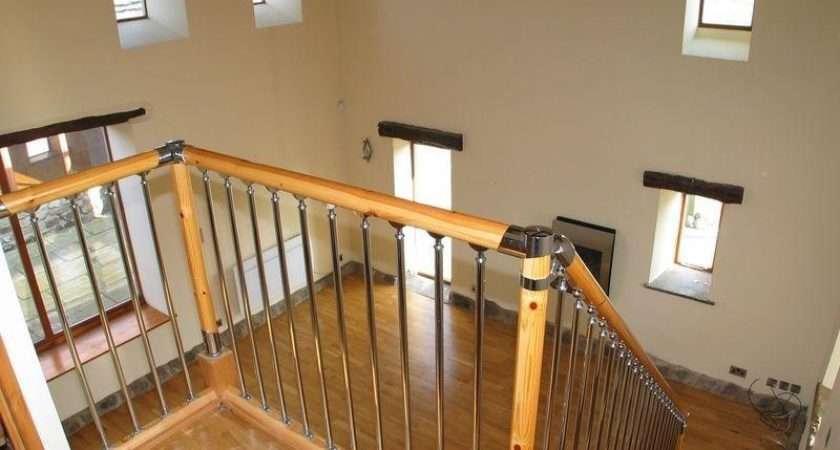 Landing Flooring Modern Staircase Stairs Wooden Floor